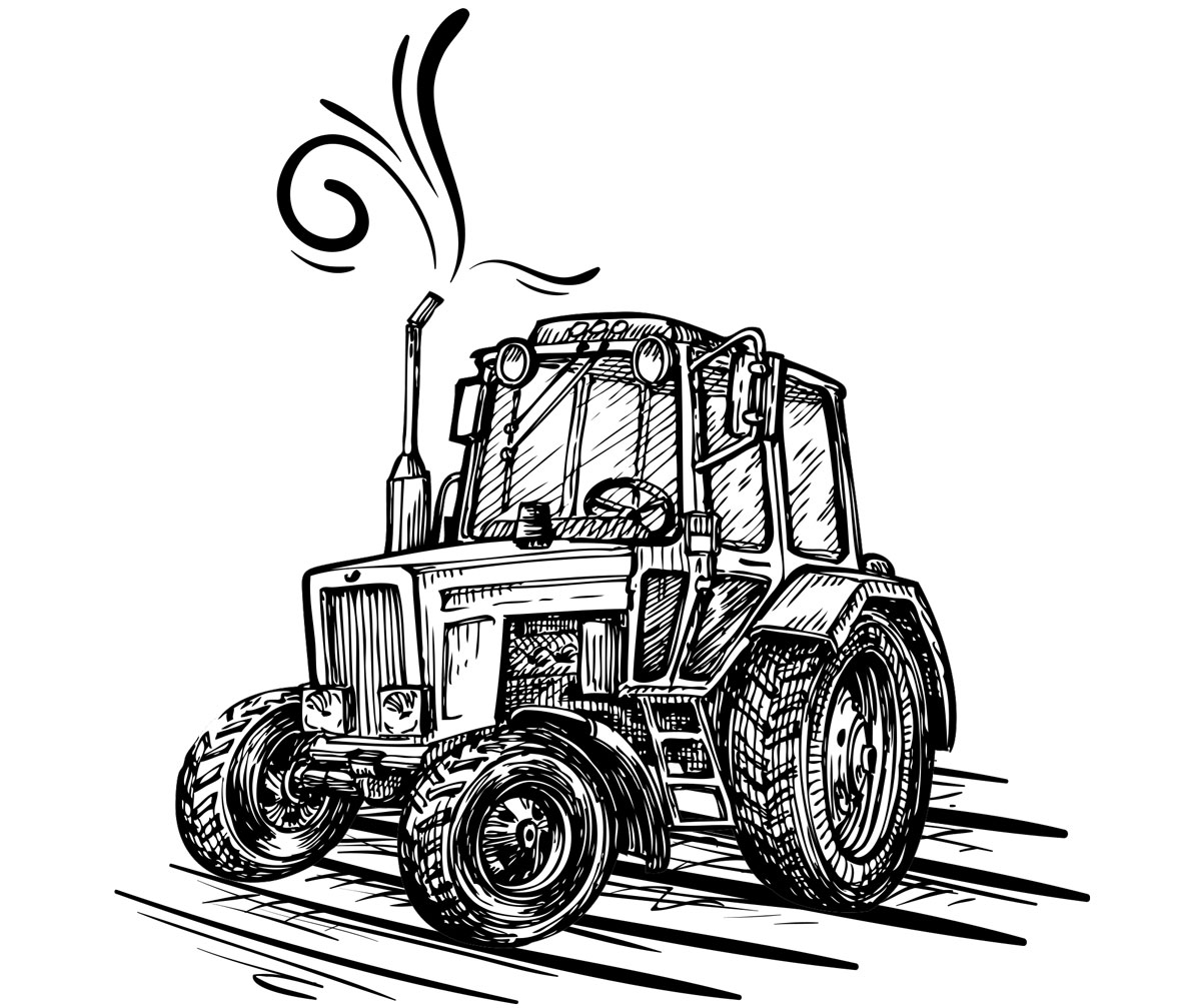 Traktor Illustration